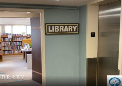 Pic of the entrance to the library