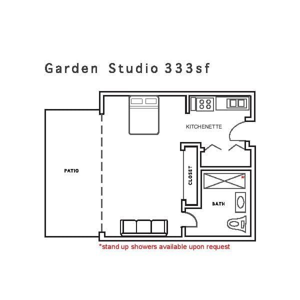 Garden Studio 333sf