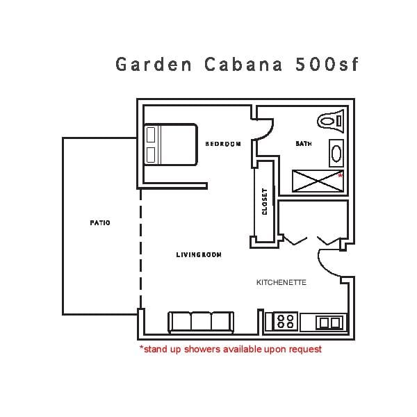 Garden Cabana 500sf