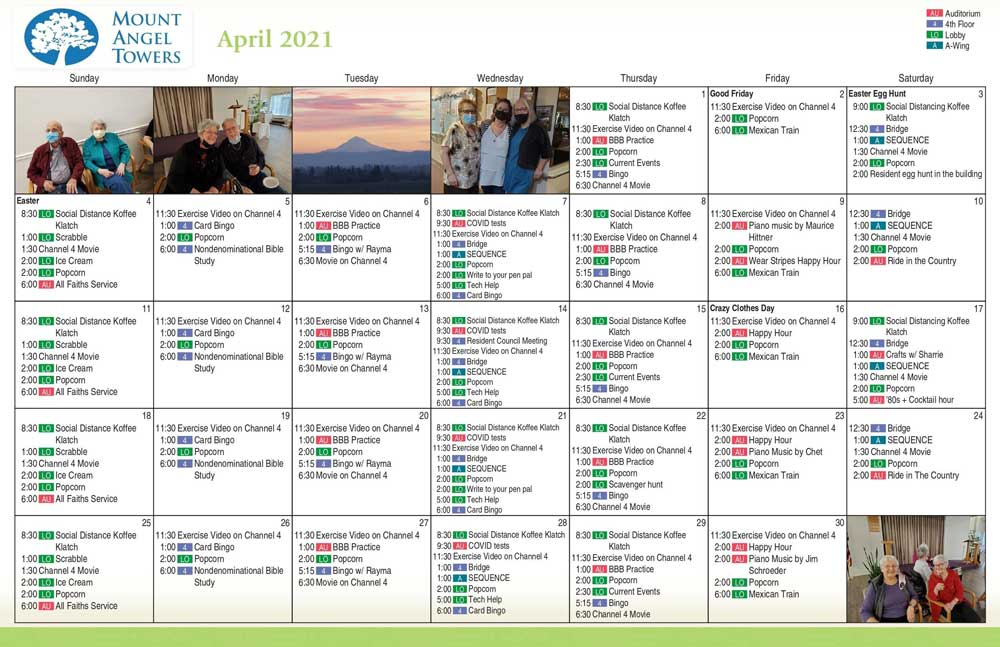 Activity for March 2021